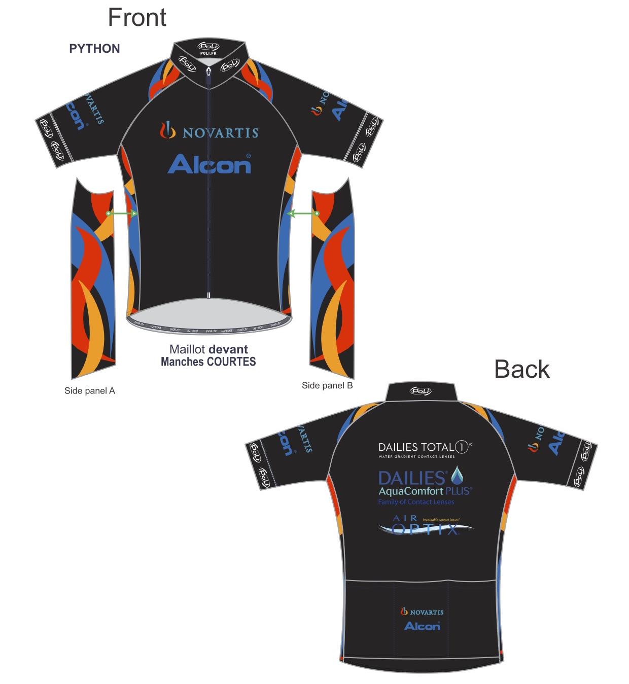 Alcon Novartis Cycling Kit
